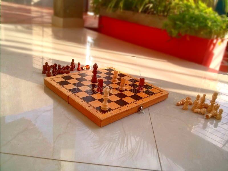 Van de het schaakvloer van de kopthee het schaak van het het spelspel royalty-vrije stock foto