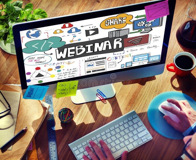 Van de het Seminarietechnologie van het Webinarweb het Online Concept royalty-vrije stock afbeelding