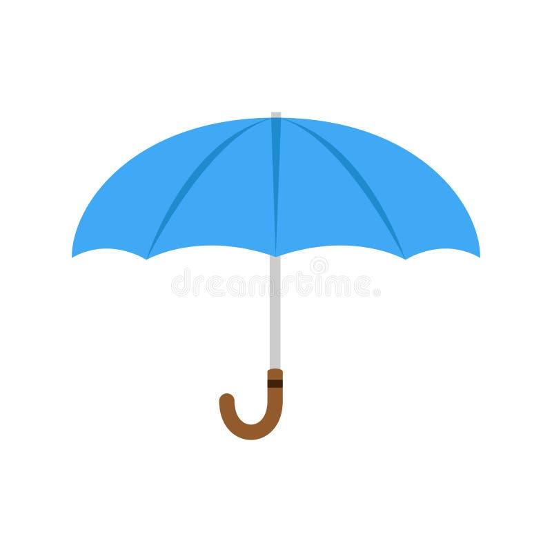 Van de het strandbescherming van het paraplu vectorpictogram illustratie geïsoleerde de parasolregen Open van het ontwerpweer sei vector illustratie