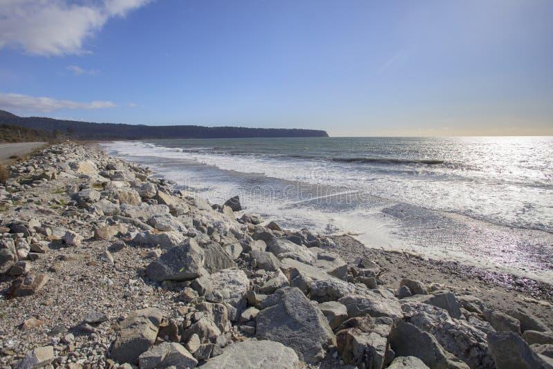 Van de het strandwestkust van de Brucebaai het zuideneiland Nieuw Zeeland royalty-vrije stock foto