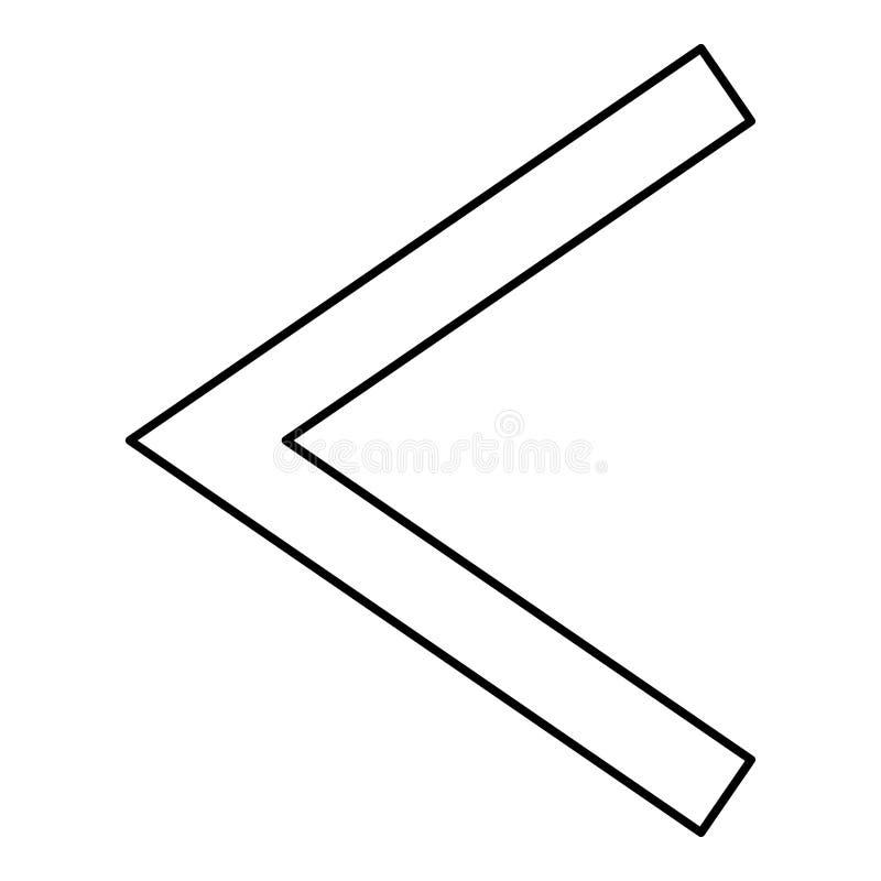 Van de het symboolzweer van Kanu van de Kenazrune van het de toortspictogram van de de kleuren vectorillustratie zwart vlak de st stock illustratie