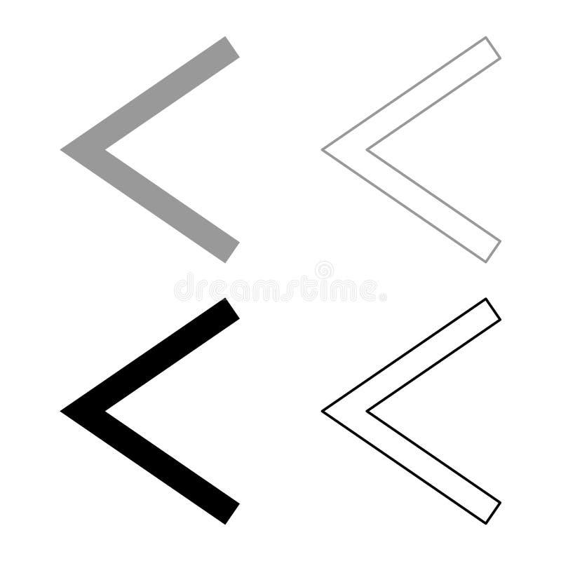 Van de het symboolzweer van Kanu van de Kenazrune van het de toortspictogram van de de kleurenillustratie het vastgestelde grijze vector illustratie