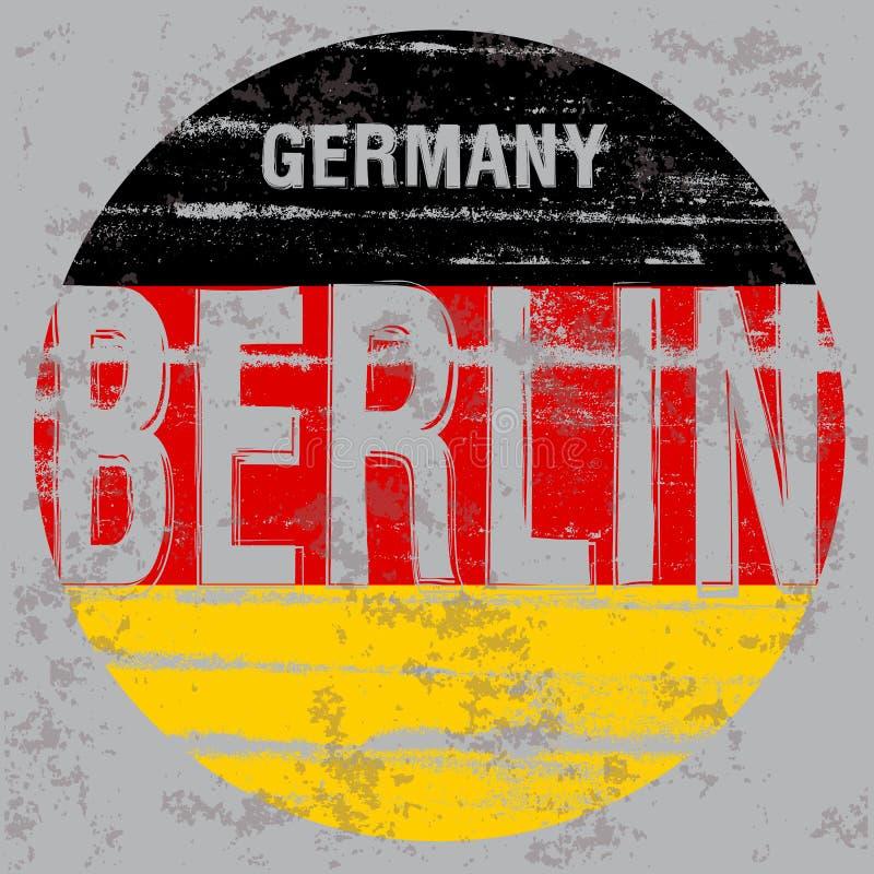 Van de het T-stukaffiche van Berlijn het grafische ontwerp royalty-vrije illustratie