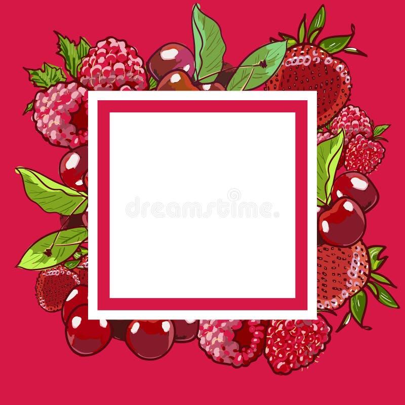 Van de het voedsel organisch koffie van tellershand getrokken vectoreco het menuontwerp E stock illustratie