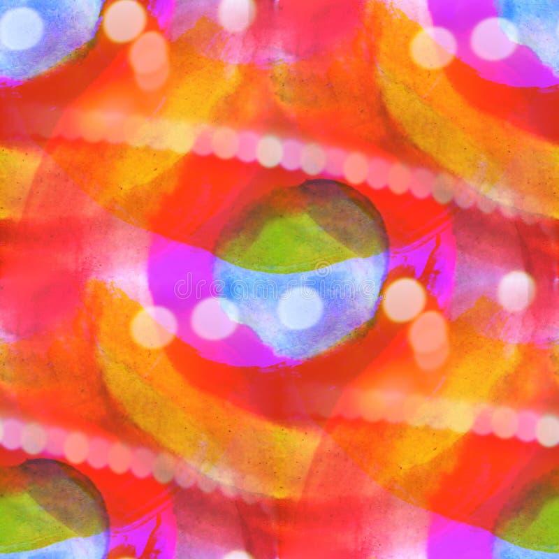 Van de het water blauw, rood textuur van het Bokeh kleurrijk patroon de verf abstract Se vector illustratie