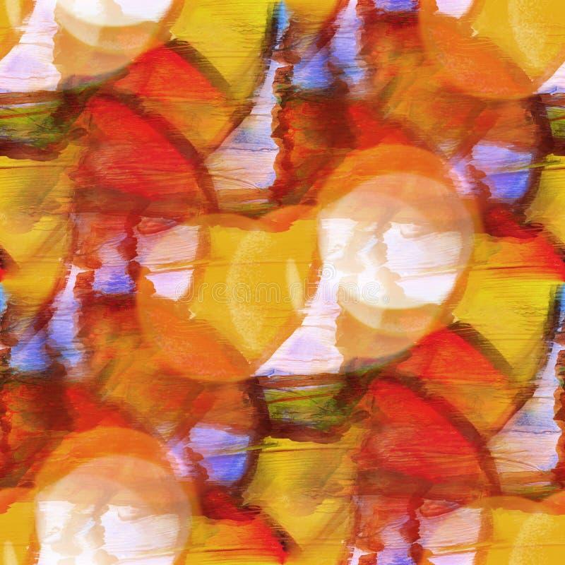 Van de het watertextuur van het Bokeh de kleurrijke patroon bruine, rode verf abstract s vector illustratie