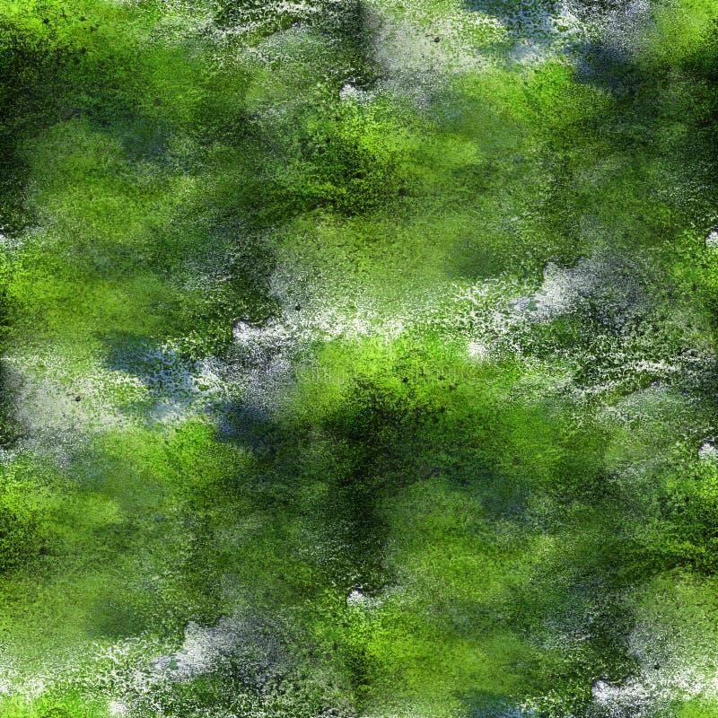 Van de het watertextuur van het verf de kleurrijke patroon groene abstracte kleur seamle royalty-vrije illustratie