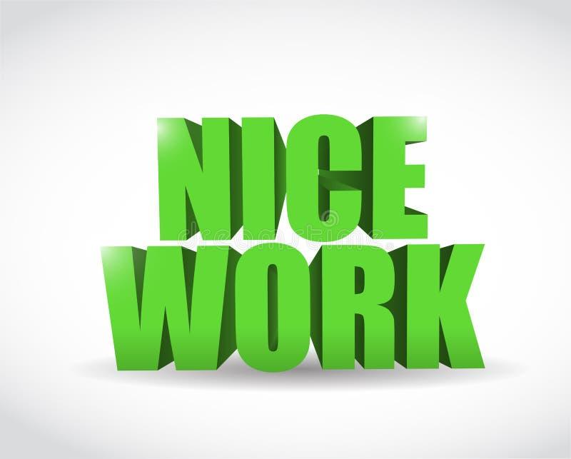Van de het werktekst van Nice de illustratieontwerp vector illustratie