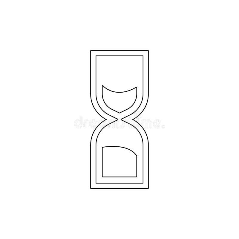 Van de het zandtijd van de klokzandloper het pictogram van het het horlogeoverzicht De tekens en de symbolen kunnen voor Web, emb vector illustratie