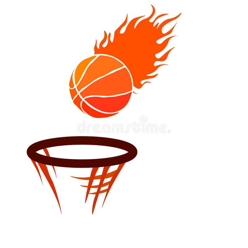 Van de de hoepelsport van het Webbasketbal de mand vectorillustratie stock illustratie