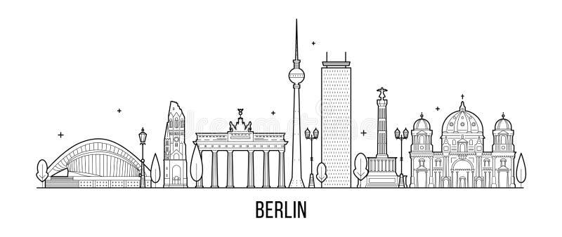 Van de horizongermanym van Berlijn vector de stadsvector stock illustratie