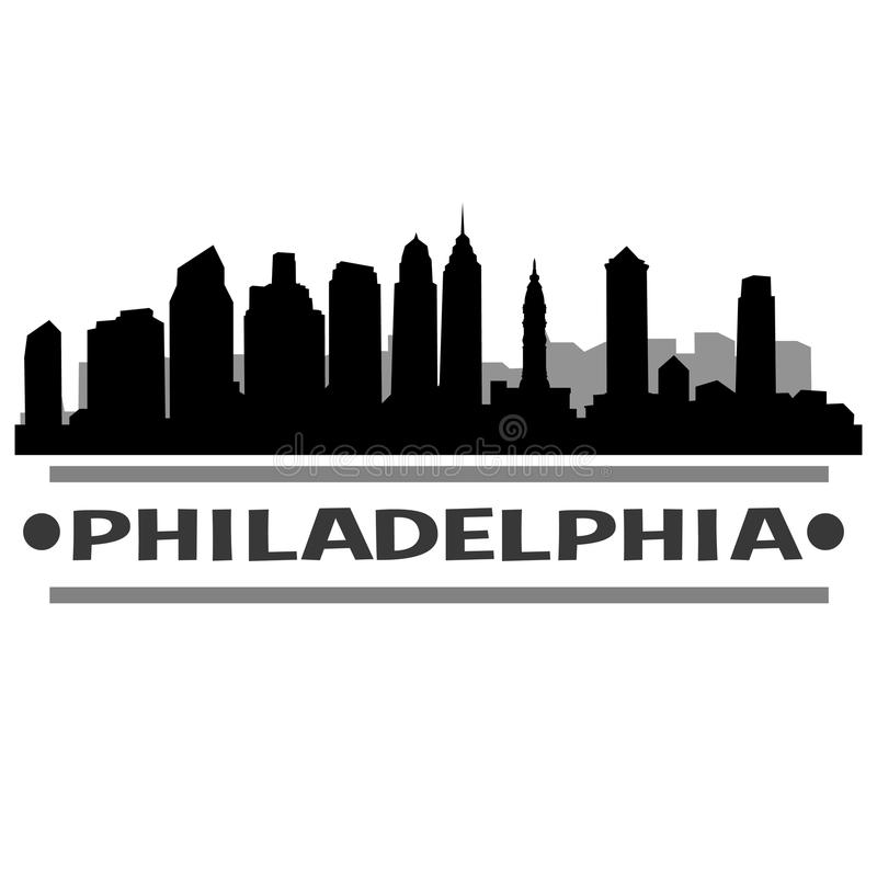 Van de de Horizonstad van Philadelphia het Pictogram Vectorart design vector illustratie