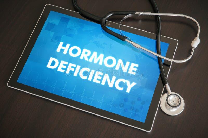 Van de hormoondeficiëntie (endocriene ziekte) de diagnose medisch concept royalty-vrije stock foto