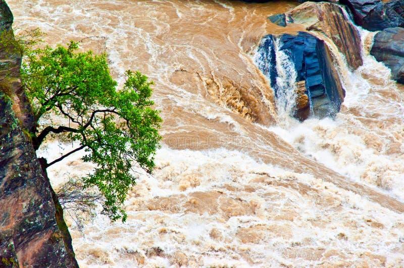 Van de Hutiaokloof (Hutiaoxia) het waterdaling stock afbeelding
