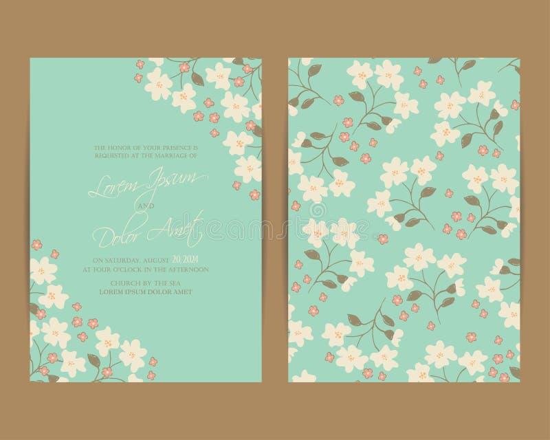 Van de huwelijksuitnodiging of aankondiging kaart royalty-vrije illustratie