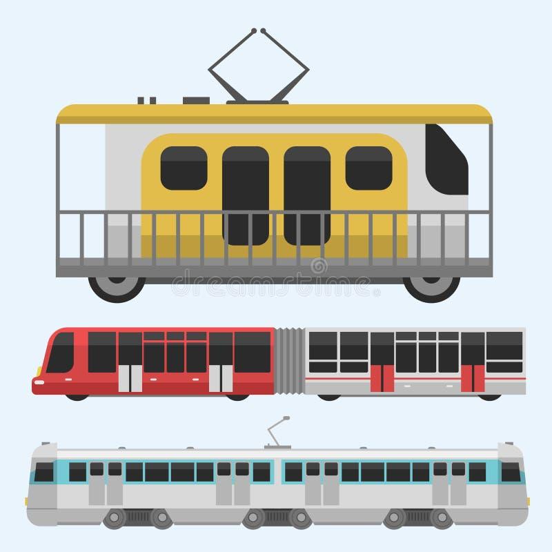 Van de industrie vector vlakke illustraties van het stadsvervoer openbare van het het verkeersvoertuig van het de bedrijfs straat vector illustratie