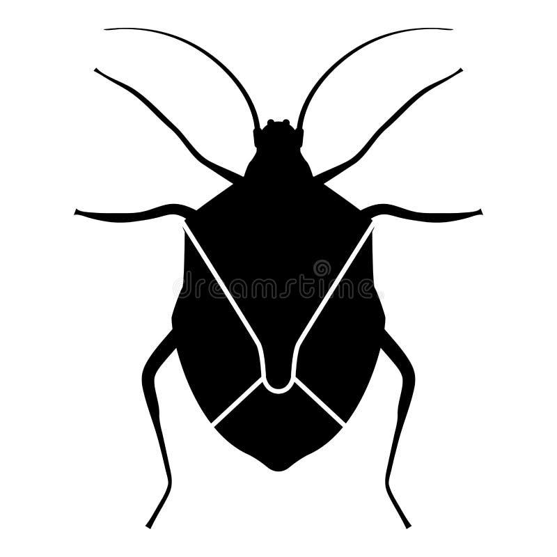 Van de insectenhemipterans van Chinch van de insectenbeddewants het Ware van het het Insectongedierte van de het pictogram zwarte royalty-vrije illustratie