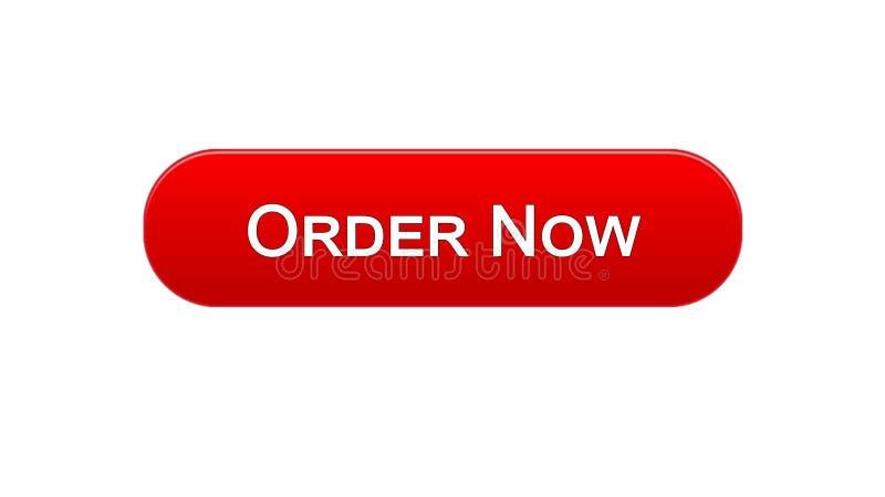 Van de de interfaceknoop van het orde nu Web de rode kleur, online het winkelen toepassing, de dienst stock illustratie