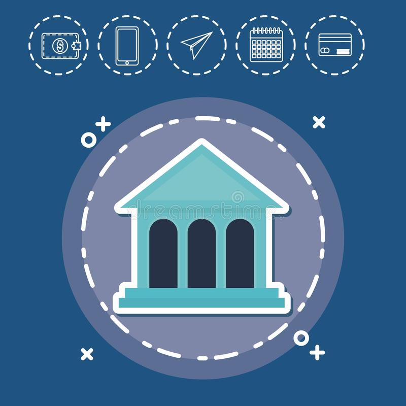 Van de Investerings Financieel Internet van bankfintech de Technologieconcept vector illustratie