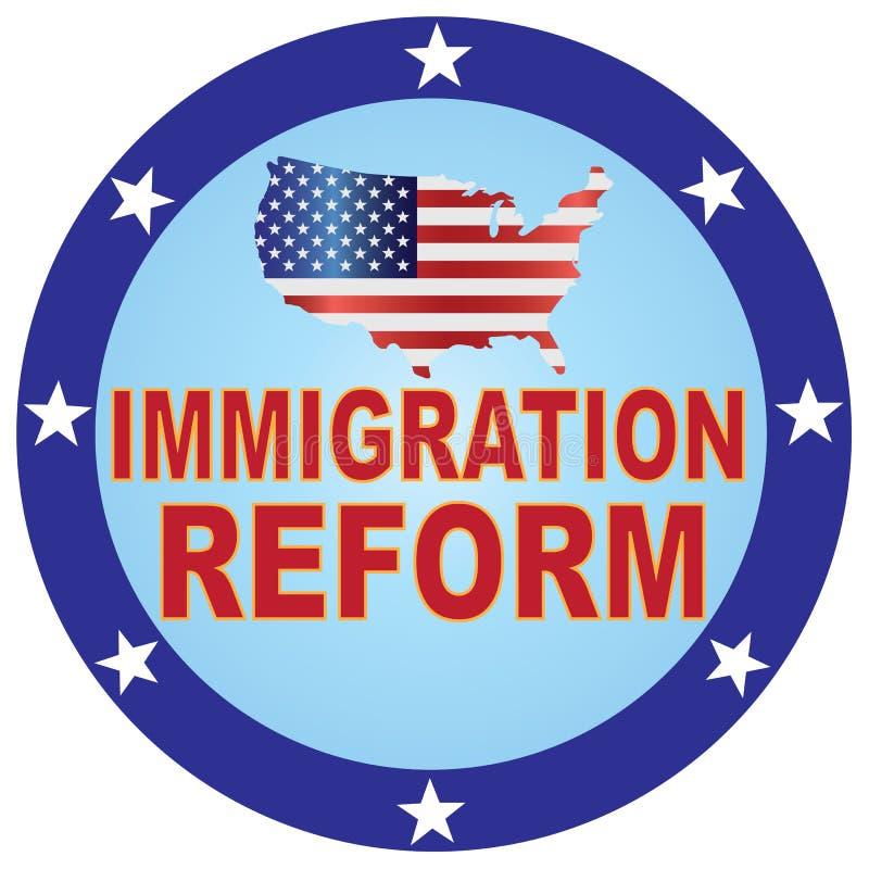 Van de de Kaartknoop van de V.S. van de immigratiehervorming de vectorillustratie royalty-vrije illustratie