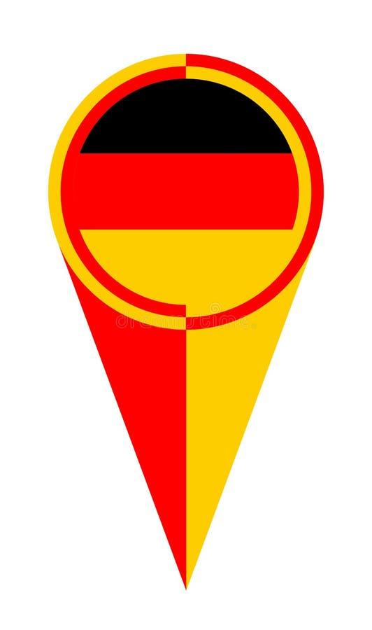 Van de de Kaartwijzer van Duitsland de Plaatsvlag vector illustratie