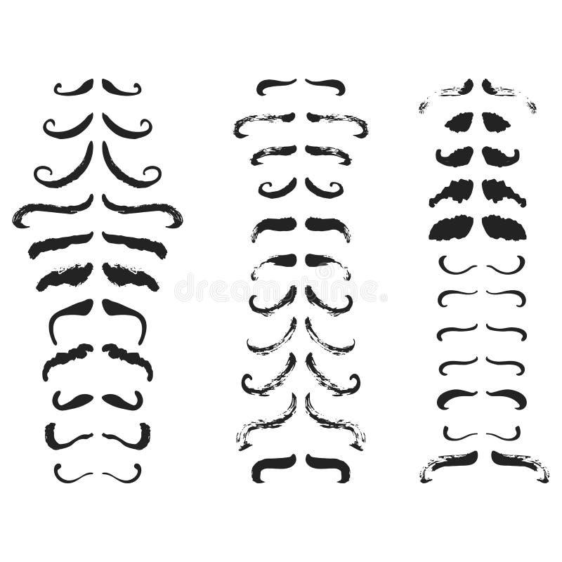 Van de Kankervoorlichting van Movemberhand getrokken die November de Maandaffiche met snorren op de witte achtergrond worden geïs stock illustratie