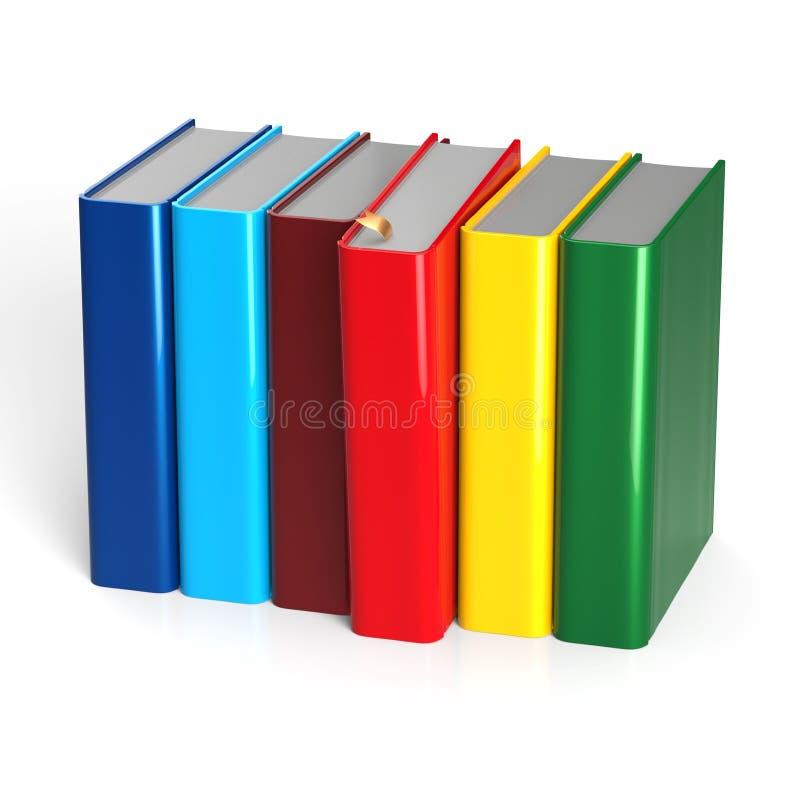 Van de de keusrij van het boekenhandboek de kleurrijke rode selecterende spatie royalty-vrije illustratie
