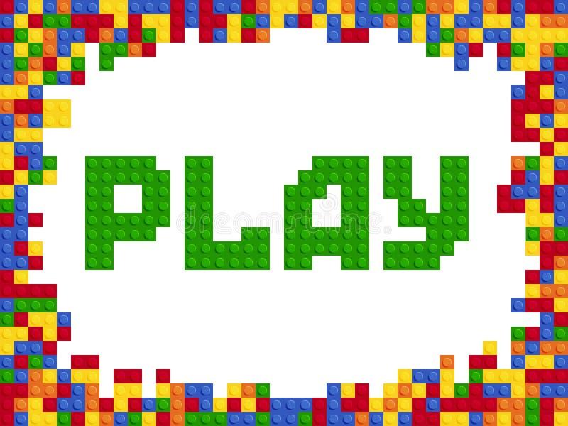Van de de kleurenaannemer van het spelwoord het plastic van het het blokmalplaatje vlakke ontwerp royalty-vrije illustratie