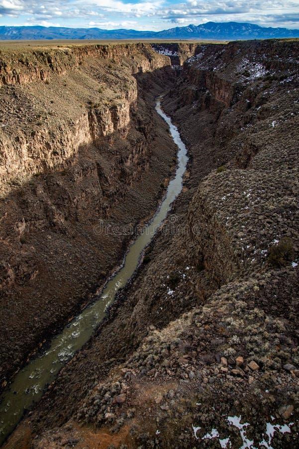 Van de de kloofbrug van Rio grote taos New Mexico royalty-vrije stock foto's
