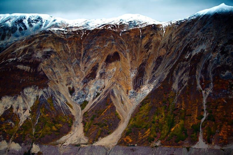 Van de Kluane Nationale Park en Reserve, van de Vallei en Montainsde-Meningen royalty-vrije stock afbeeldingen