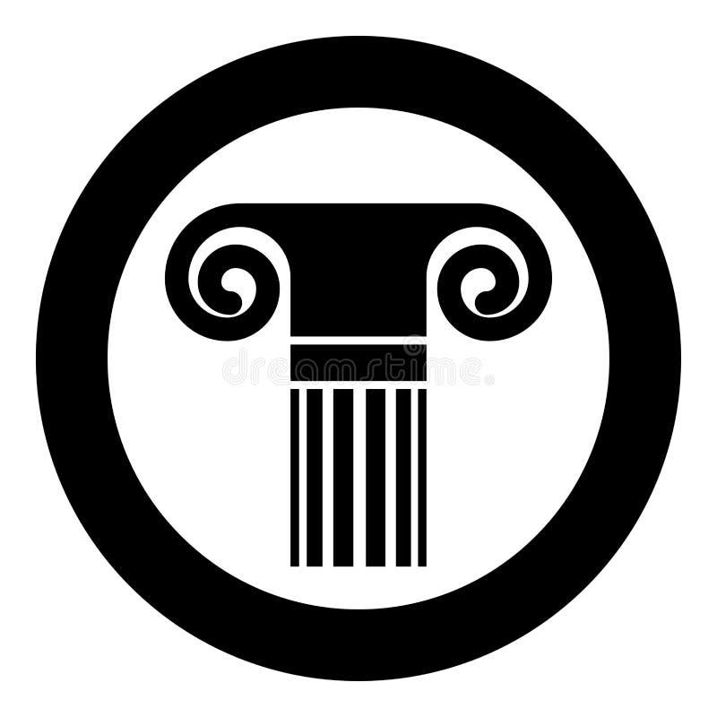 Van de de kolomarchitectuur van de kolom oud stijl Antiek klassiek van de het elementenpijler Grieks roman de kolompictogram in c stock illustratie