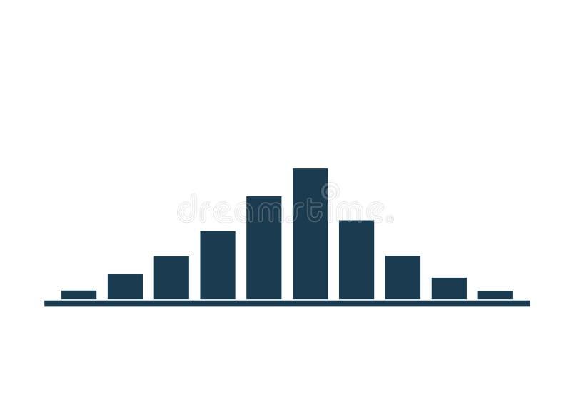 Van de de kolomgroei en daling grafiek vector illustratie