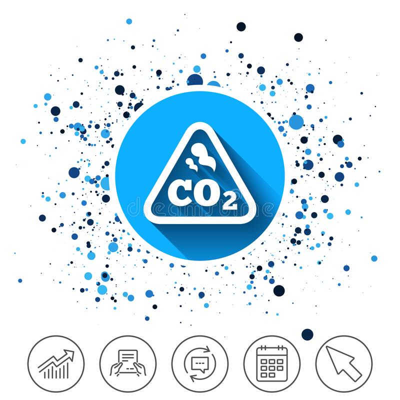 Van de de kooldioxideformule van Co2 het tekenpictogram chemie stock illustratie