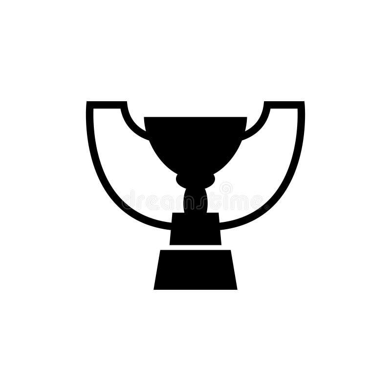 Van de de Koptoekenning van de winnaartrofee het Vlakke Vectorpictogram stock illustratie
