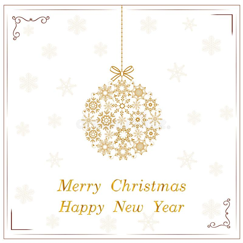 Van de de kunstvoorraad van de Kerstmisbal vector de decoratieschoonheid royalty-vrije illustratie