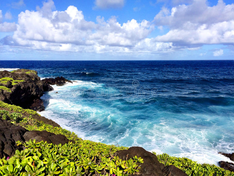 Van de Kustlijnhaleakala van Maui het Nationale Park stock afbeelding
