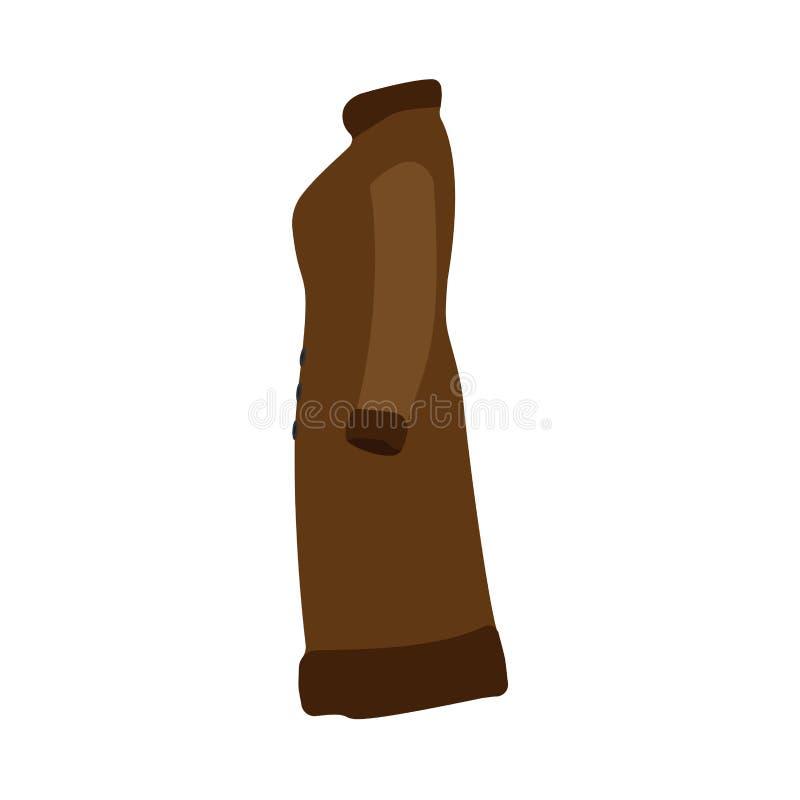 Van de de laag mooi kleding van de bontwinter bruin de illustratie vectorpictogram Colletion van de in dame moderne manier vrouwe vector illustratie