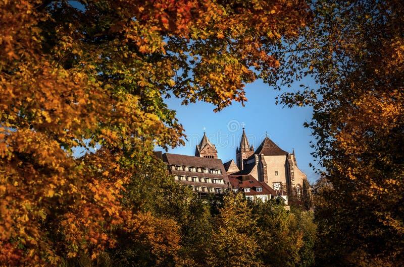 Van de Lentefrã ¼ van Duitsland MÃ ¼ nster Deutschland hling het Landschapsstad Stadt Rijn Breisach am Rijn stock afbeeldingen