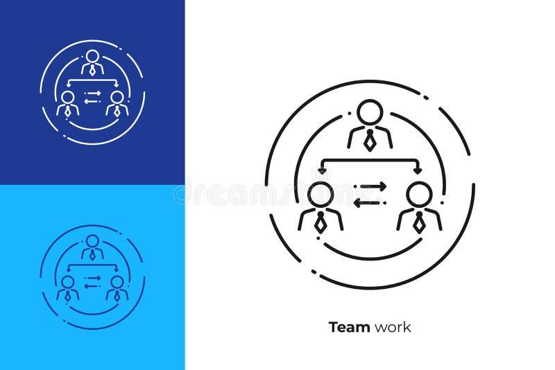 Van de de lijnkunst van de bedrijfhiërarchie het vectorpictogram vector illustratie