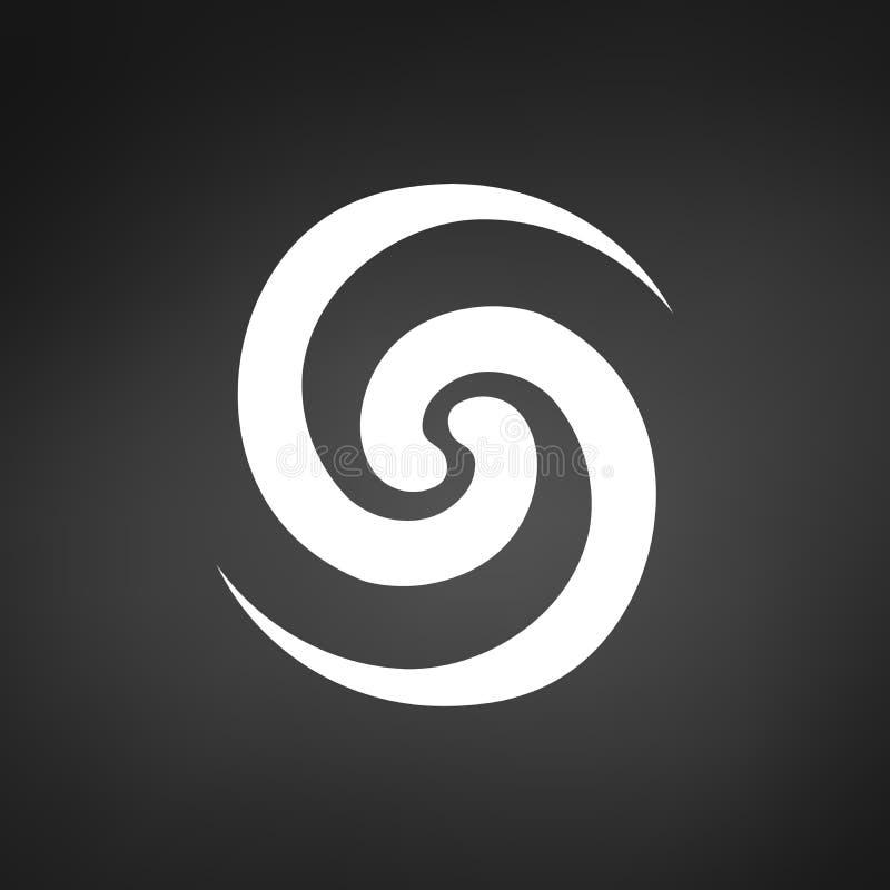 Van de Lijnlogo modern stylish identity brand van de bloemwerveling van het het Symboolpictogram Vector van het het Concepten de  vector illustratie