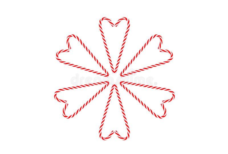 Van de lollykerstmis van het kaarthart het feestelijke witte rood vector illustratie