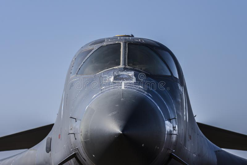 Van de Luchtmachtrockwell B-1B van de V.S. jet van de de Lansier de kernbommenwerper stock fotografie