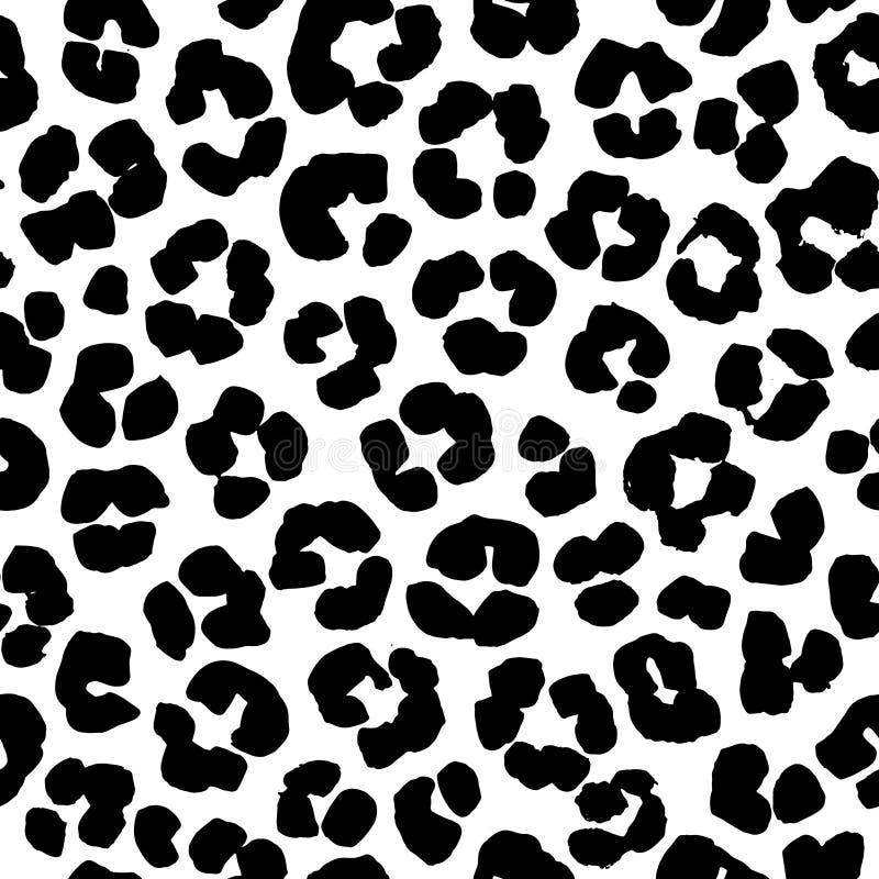 Van de luipaarddruk naadloos patroon als achtergrond Rebecca 36 stock illustratie
