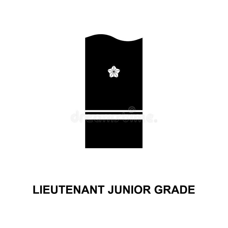 van de de luitenant de ondergeschikt rang van Japan militair rangen en insignes glyph pictogram vector illustratie