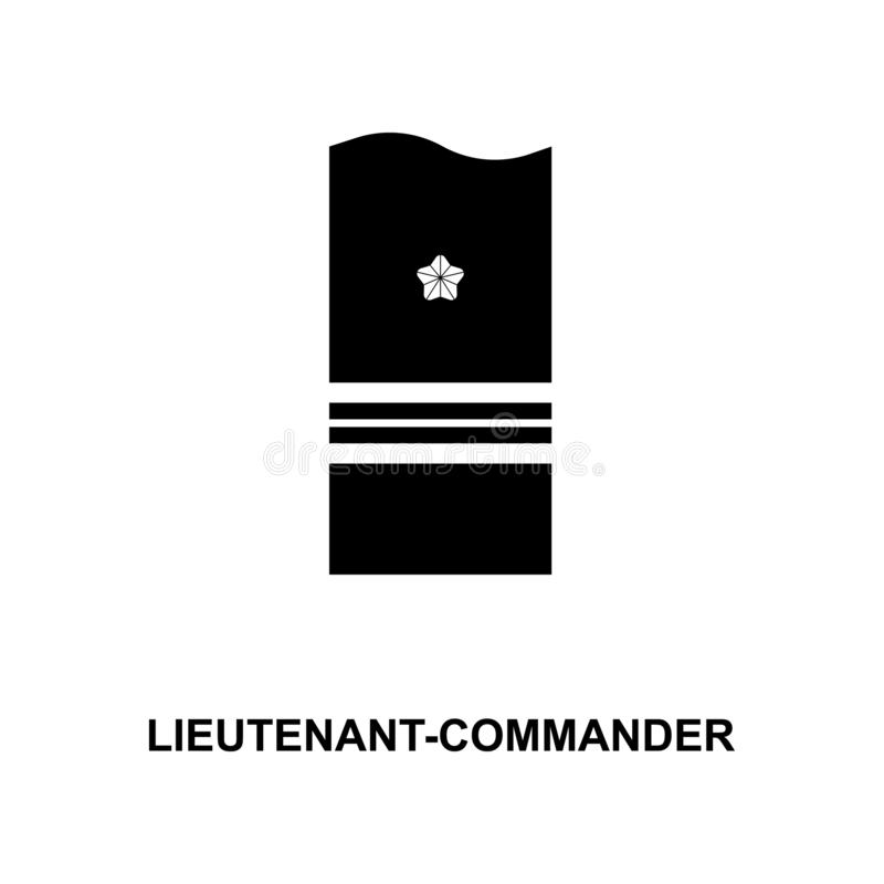 van de de luitenantbevelhebber van Japan de militair rangen en insignes glyph pictogram stock illustratie