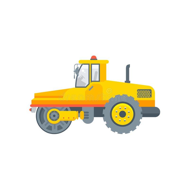 Van de de machineillustratie van de asfaltbetonmolen het zijaanzicht vector illustratie