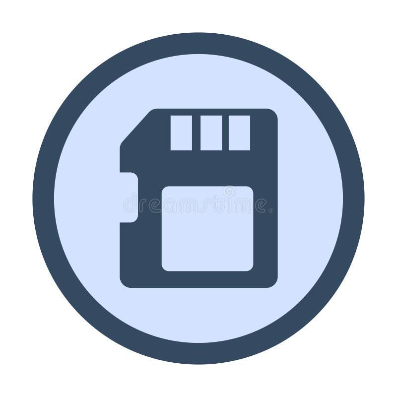 van de micro- BR het symbool kaartcirkel royalty-vrije illustratie
