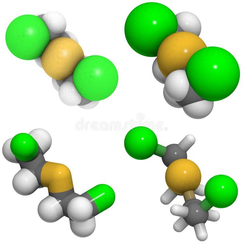 Van de mosterd het gas (Yperiet) structuur royalty-vrije illustratie