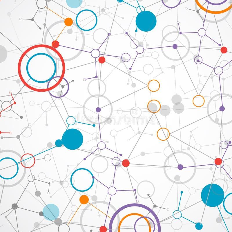 Van de netwerktechnologie/wetenschap communicatie achtergrond vector illustratie