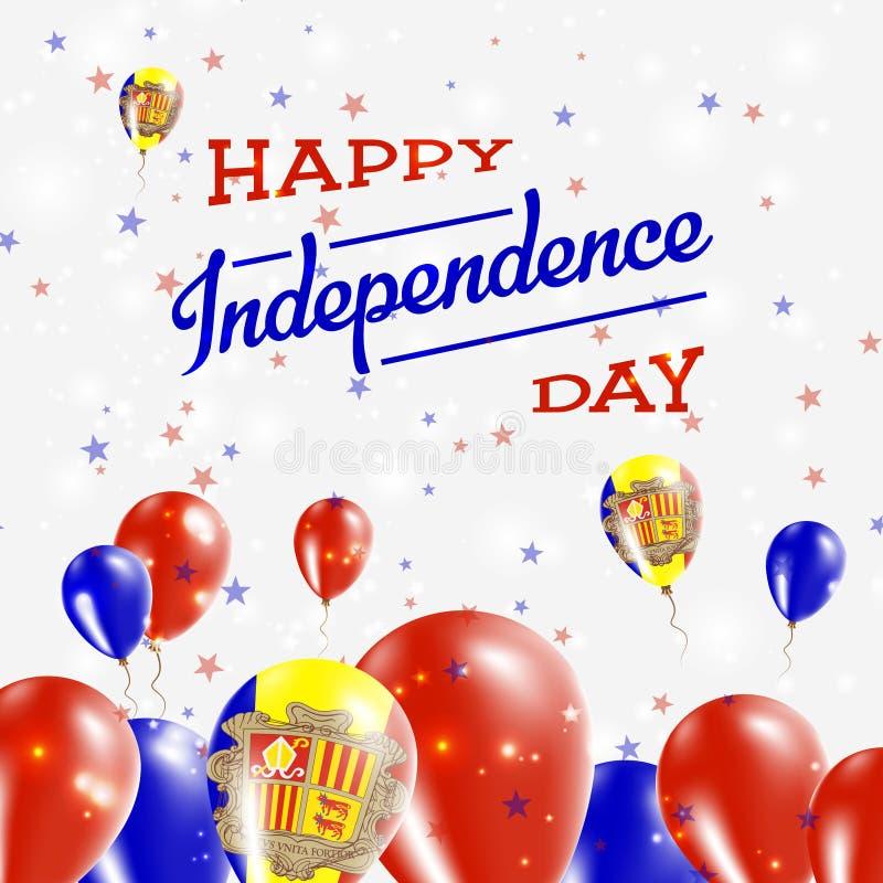 Van de de Onafhankelijkheidsdag van Andorra het Patriottische Ontwerp vector illustratie